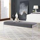 Roam Performance Velvet Bench in Gray Product Image