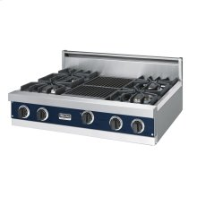 "Viking Blue 36"" Sealed Burner Rangetop - VGRT (36"" wide, four burners 12"" wide char-grill)"
