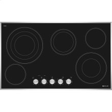 "Euro-Style 36"" Electric Radiant Cooktop, Stainless Steel"