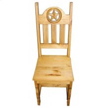 Wood Seat Open Star Chair