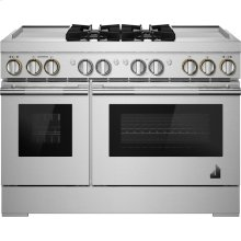 "RISE™ 48"" Dual-Fuel Professional Range with Dual Chrome-Infused Griddles, RISE"