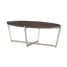 Platform Oval Coffee Table