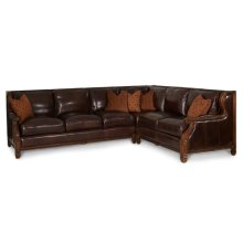 2pc Leather LAF Sofa & RAF Loveseat