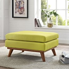 Engage Upholstered Fabric Ottoman in Wheatgrass
