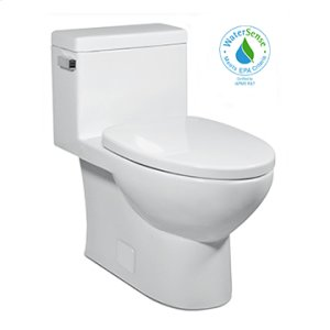 Balsa VISTA II One-Piece Toilet 1.28gpf, Compact Elongated with Polished Nickel Metal Finish