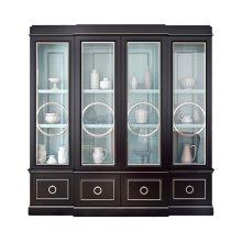 Astoria Breakfront with Circle Mullion Glass Doors