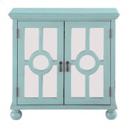 Accent Chest with Mirror Door-Aqua, 3A Product Image
