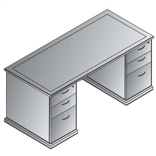 "Mendocino Double Pedestal Desk 66""x30"""