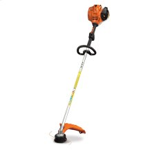 This professional-grade, straight-shaft grass trimmer is fuel efficient and produces low emissions.