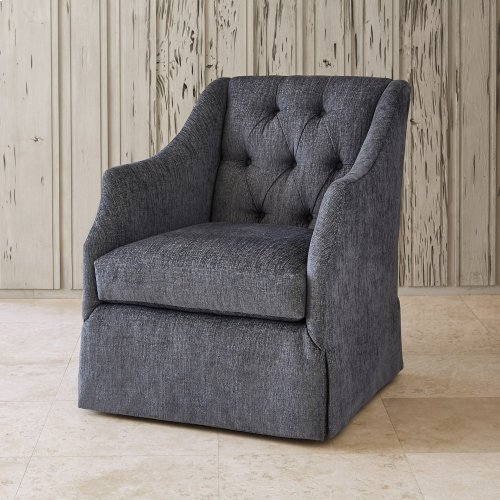 Claudette Chair - Skirted w/ Tufted Back