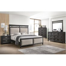 A1056 Ashton King Bed with Dresser and Mirror