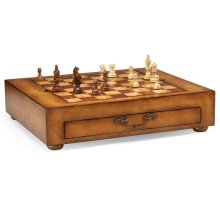 Light Walnut Games Box with Drawer