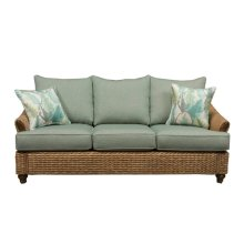 Sofa, Available in Antique Palm Finish Only.