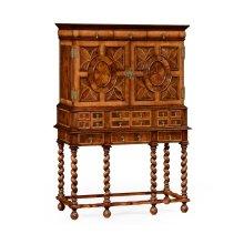 William & Mary Walnut & Oyster TV Cabinet
