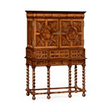 William & Mary Walnut & Oyster TV Cabinet
