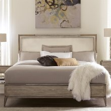 Sophie - King/california King Upholstered Headboard - Natural Finish