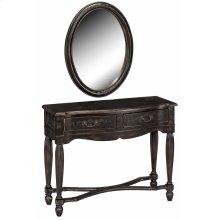 Console / Mirror Set 2dw Black