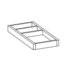 Noce Canaletto - Real Wood Veneer Small organizer for drawer (not suitable for: 424053, 424151, 424152, 424360)