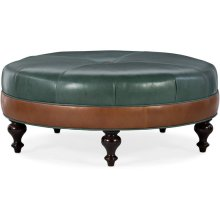 Bradington Young XL Well-Rounded Round Ottoman 806-RD