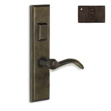 Right Hand Reverse Mortise Escutcheon Entry - Copper Bronze