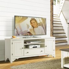 Grand Haven - 68-inch TV Console - Feathered White Finish