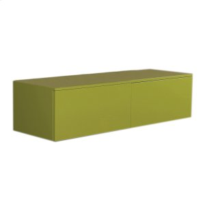 Aeri lacquered wood wall mount unit with double drawers and counter top. Product Image