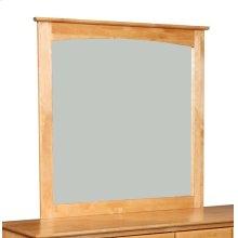 Unfinished Alder Shaker Arch Moulding Mirror