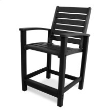 Black Signature Counter Chair