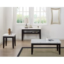 """Francis White Marble Cocktail Table 48"""" x 26"""" x 20"""" 55mmThick"""