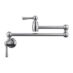 Dai Dual Handle Wall Mount Pot Filler - Brushed Nickel Product Image