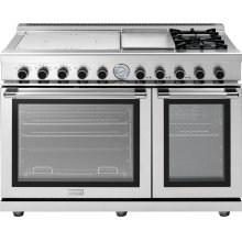 """Range NEXT 48"""" Panorama Stainless steel 4 induction, griddle, 2 gas and 2 gas ovens"""