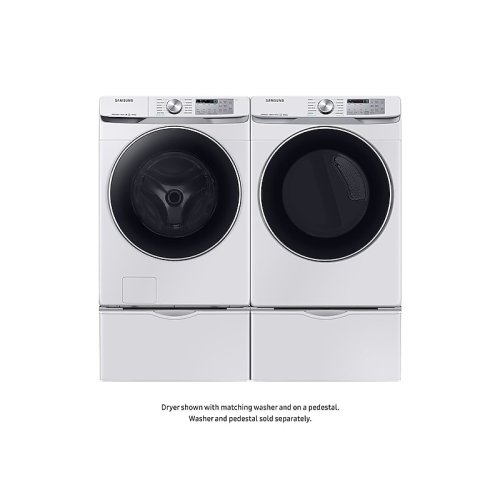 7.5 cu. ft. Smart Gas Dryer with Steam Sanitize+ in White