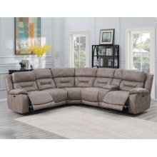 Steve Silver Co. Aria Desert Sand 3 Piece Recliner Sectional Sofa Set