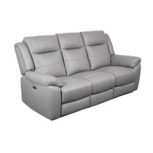 Kent Leather Power Reclining Sofa, Console Love & Chair, MLP9056