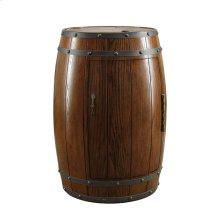 Wine Barrel Refrigerator, Dark Oak