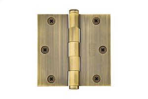 "3-1/2""x 3-1/2"" Square Corners Residential Plain Bearing, Solid Brass Product Image"