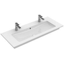 """Vanity washbasin 47"""" Angular - White Alpin"""