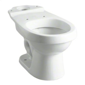 """12"""" Rough-in Round-Front Bowl - White Product Image"""