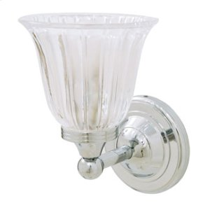 Ritz Wall Light With Clear Tulip Glass Shade Product Image