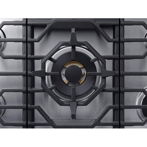 "36"" Chef Collection Gas Cooktop with 22K BTU Dual Power Burner in Stainless Steel"