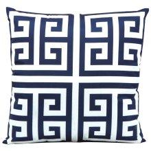 "Outdoor Pillow As047 Navy 20"" X 20"" Throw Pillow"