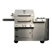 Kalamazoo K450HS Hybrid Fire Free-Standing Grill with Side Burner