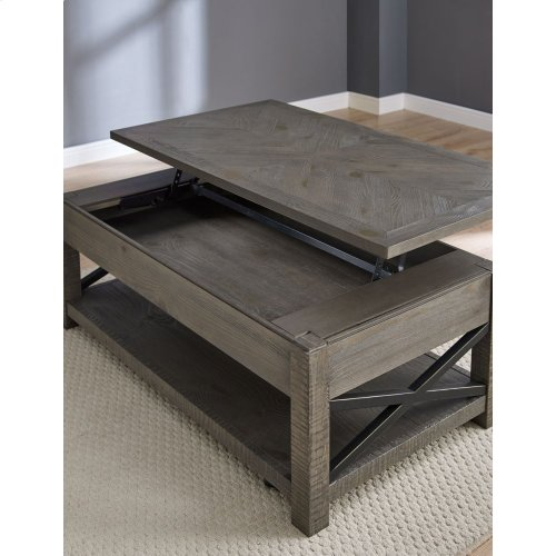 Dexter Lift Top Cocktail Table 48'' x26'' x18-26''