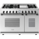 """Range NEXT 48"""" Classic Stainless steel 6 gas, griddle and 2 gas ovens Product Image"""