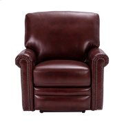 Grant Leather Power Recliner in Deep Merlot Red Product Image