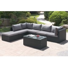 410 / Liz.p31- 7PC OUTDOOR PATIO SOFA SET [P50140(2)+P50142(3)+P50144(1)+P50150(1)]