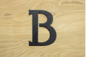 "B Black 6"" Mailbox House Number 450150 Product Image"