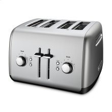 4 SLICE METAL TOASTER - MANUAL LIFT - Contour Silver