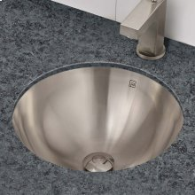 Hayley Round Undermount or Drop-in Stainless Steel Sink - Brushed