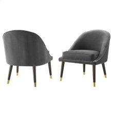 """Avalon Velvet Accent Chair Charcoal 24.5""""x27""""x30""""-1pc/ctn"""